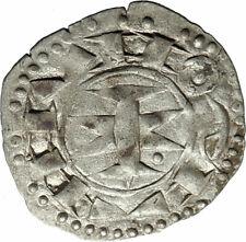 1200-1300AD FRANCE Medieval MELGUEIL Antique Billon Silver French Coin i74602