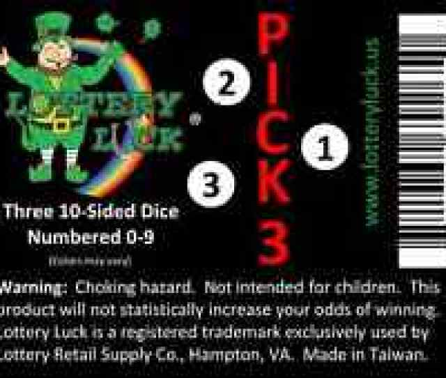 Lottery Lucktm Random Number Assistant For Pick 3 State Lottery Draw Games
