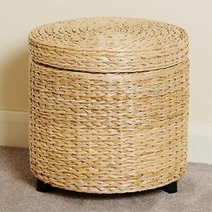 round storage ottoman for sale ebay