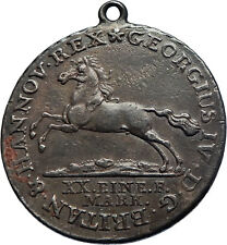 1821 HANNOVER GERMAN STATE Silver KING GEORGE IV w HORSE NECKLACE Coin i71912