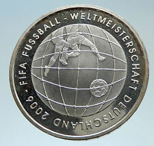 2005 GERMANY FIFA World Cup 06 Football Soccer Genuine Silver German Coin i75336