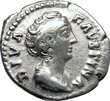 Diva FAUSTINA I Sr 141AD Rome Authentic Ancient Silver Roman Coin CERES i70282