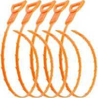 Drain Hair Cather 5 Pack 20 Inch Drain Snake Shower Drain Hair Trap Clog Remover