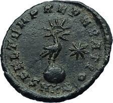 CONSTANTIUS II Ancient 348AD Authentic Roman Coin w PHOENIX on GLOBE i66455