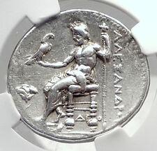 ALEXANDER III the Great Ancient Silver Greek Tetradrachm Coin MEMPHIS NGC i72381