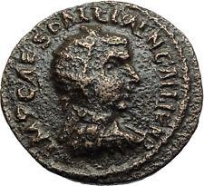GALLIENUS Authentic Ancient 253AD Antioch Pisidia Roman Coin Standards i71063