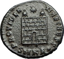 CONSTANTIUS II Authentic Ancient 325AD Roman Coin Military CAMP GATE i67661