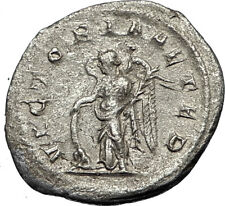 GORDIAN III 244AD Silver Authentic Genuine Ancient Roman Coin Victory i67329