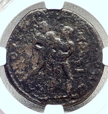 PHILIP I the ARAB Ancient Tarsus Roman Coin HERCULES Wrestles ANTEUS NGC i72668