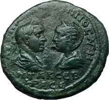 PHILIP I & OTACILIA SEVERA 244AD Ancient Roman Marcianopolis Coin ZEUS i66480