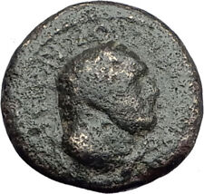 SARDES in LYDIA Genuine 65AD Authentic Ancient Greek Coin HERCULES & NIKE i63782