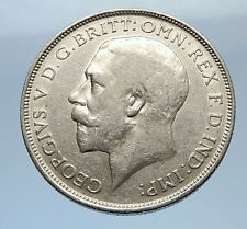 1915 United Kingdom Great Britain GEORGE V Silver Florin 2 Shillings Coin i69411