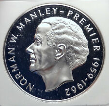 1972 JAMAICA Proof HUGE 4.5cm Silver $5 Coin Premier Norman W Manley NGC i72130