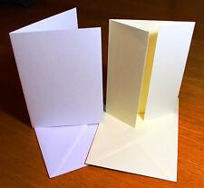 A6 Card Blanks Envelopes Wedding Invitations Making Craft Linen Texture