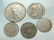 GROUP LOT of 5 Old SILVER Europe or Other WORLD Coins for your COLLECTION i75683