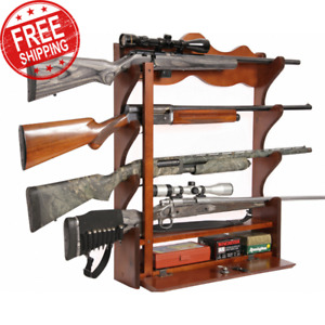 hunting gun wall racks with 4 guns for