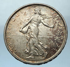1962 FRANCE French LARGE Silver 5 Francs Coin w La Semeuse SOWER WOMAN i68271