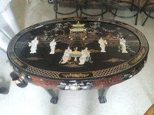 oriental coffee table in antique