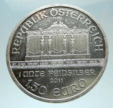 2011 AUSTRIA Vienna Golden Hall Music Instruments LARGE 3.7cm Silver Coin i76561
