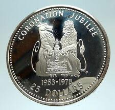 1978 BELIZE UK Queen Elizabeth II Genuine Antique Proof Silver $25 Coin i76825