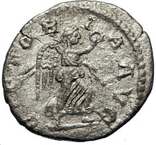 SEVERUS ALEXANDER 222AD Silver Authentic Ancient  Roman Coin Victory i69742