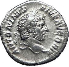 CARACALLA 213AD Rome Authentic Genuine Silver Ancient Roman Coin Mars i70270