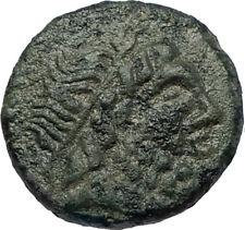 SYRACUSE SICILY 1CenBC Authentic Ancient RARE R1 Greek Coin SERAPIS ISIS i68043