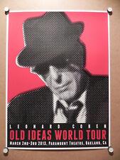 leonard cohen concert poster ebay