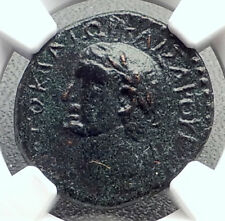 VESPASIAN Authentic Ancient MACEDONIA Koinon Greek Shield Roman Coin NGC i72652