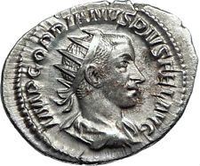 GORDIAN III with globe 242AD Rome Authentic Ancient Silver Roman Coin i67140