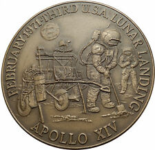 1971 APOLLO 14 XIV USA NASA Moon Landing Commemorative MEDAL w ASTRONAUTS i66978