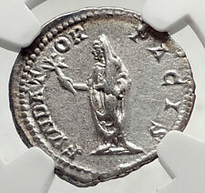 SEPTIMIUS SEVERUS Authentic Ancient 200AD Rome Silver Roman Coin NGC i72638