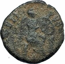 AELIA FLACILLA Theodosius I Wife 383AD Ancient Roman Coin VICTORY CHI-RHO i67725