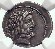 Roman Republic 80BC Rome Ancient Silver Coin JUPITER & JUNO SOSPITA NGC i77277