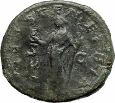 JULIA MAMAEA 222AD SESTERTIUS Authentic Ancient Roman Coin Venus Love i76280