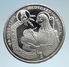 1998 GERMANY with Saint Hildegard von Bingen Genuine Silver 10 Mark Coin i75200