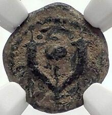 ALEXANDER JANNAEUS Biblical Jerusalem Widow's Mite Greek Bible Coin NGC i70620
