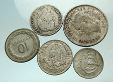 GROUP LOT of 5 Old SILVER Europe or Other WORLD Coins for your COLLECTION i75697