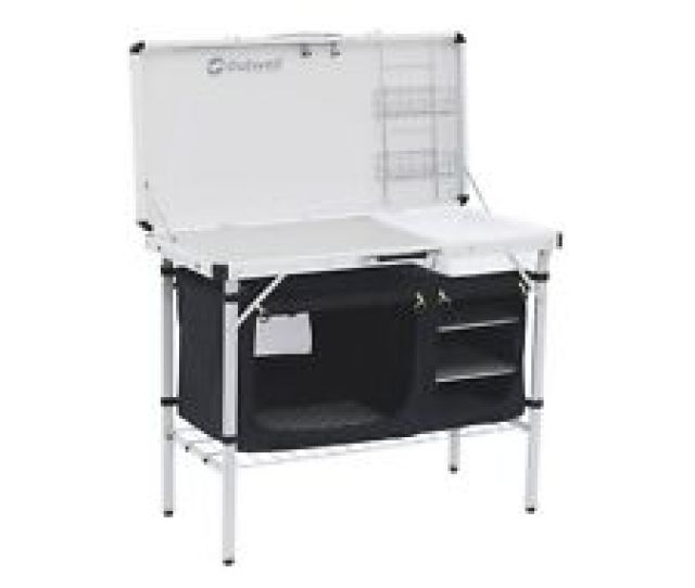 Outwell Drayton Camping Kitchen Table Shelves Sink