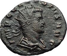 CLAUDIUS II Gothicus 268AD Ancient Roman Coin Fides Trust Standard i69643
