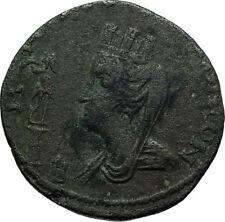 GORDIAN III 238AD Edessa Rare Authentic Ancient Roman Coin TYCHE AQUARIUS i66495