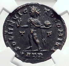 CONSTANTINE I the GREAT 317AD Authentic Ancient Roman Coin w SOL SUN NGC i72820