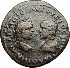 CARACALLA & JULIA DOMNA Authentic Ancient Marcianopolis Roman Coin TYCHE i71058