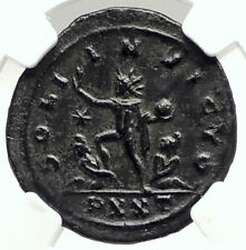 AURELIAN Authentic Ancient 270AD Genuine Roman Coin SOL CAPTIVE NGC i76293