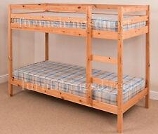 Modern Design 2ft6 Shorty Pine Bunk Bed With 2 X Sprung Mattresses
