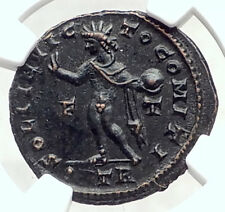 CONSTANTINE I the GREAT 317AD Authentic Ancient Roman Coin w SOL SUN NGC i72821