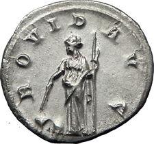 GORDIAN III 244AD Genuine Original Ancient Silver Roman Coin Providentia i70132
