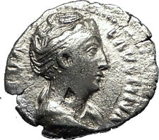 FAUSTINA I Senior 161AD Ancient Silver Roman Coin Eternity Forever  i67332
