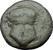 MESEMBRIA in THRACE 400BC Corinthian HELMET WHEEL Ancient Greek Coin i60992