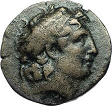TRYPHON Rare Ancient 142AD Seleukid Authentic Ancient Greek Coin w HELMET i66563